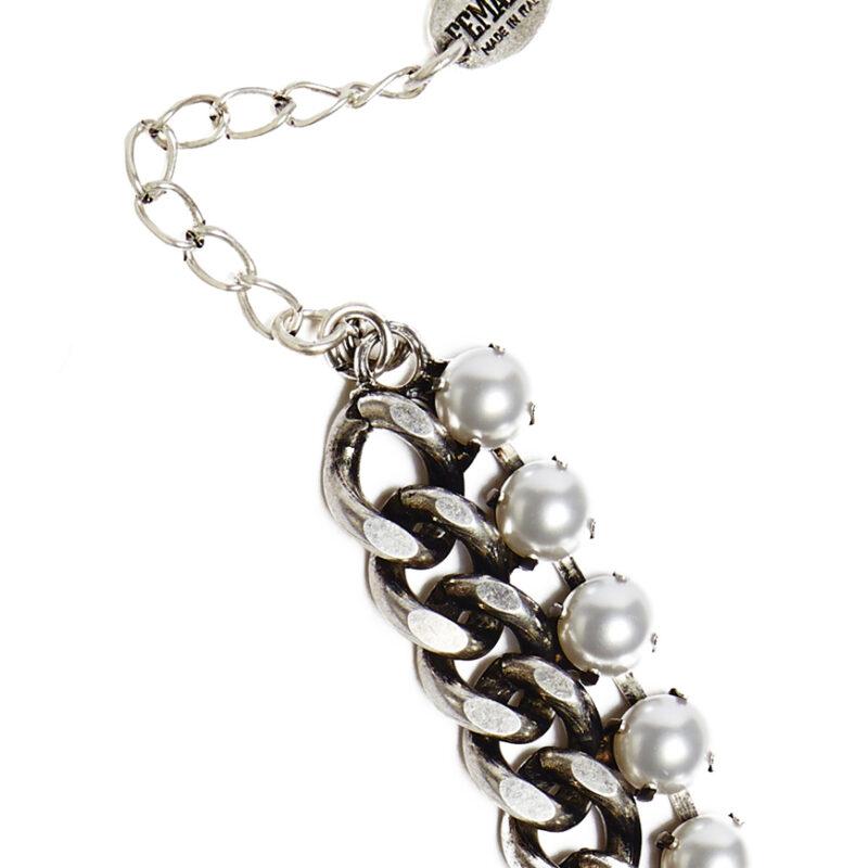 MAXI Ada silver white pearl